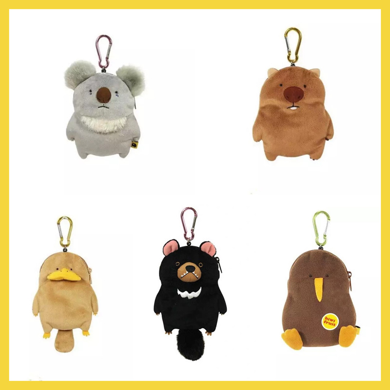 Cartoon Wombat Family Purse Platypus Koala Plush Doll Japanese-style Package Package Pendant Creative Wallet