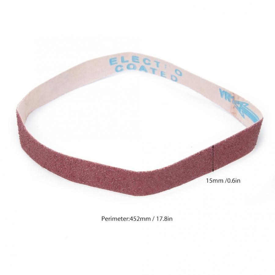 452×15mm 60 Grit Aluminum Oxide Sanding Sandpaper 10* Sander Belts Set