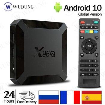 цена на 2020 X96Q Smart TV BOX Android 10.0 Allwinner H313 Quad Core 2GB 16GB 4K Media Player VS X96 Mini Set top box