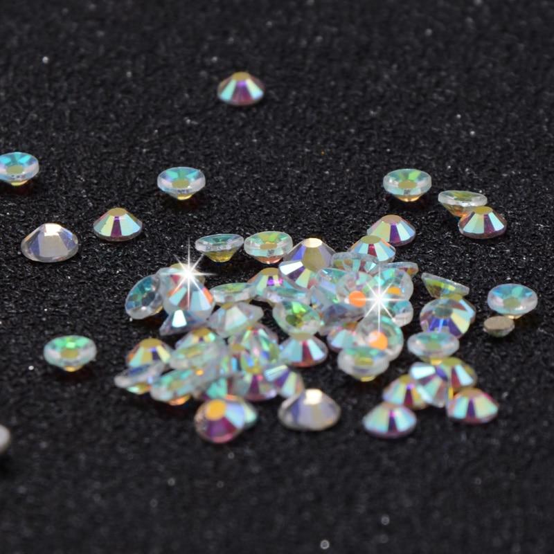 12 Boxes / Set of AB Crystal Rhinestone Diamond Gem 3D Glitter Dazzling Colours Nail Art Decoration Beautiful Girls 5