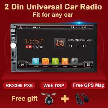 4G+64G Android Car Radio Multimedia Video Player Autoradio Stereo Headunit 7'' HD Screen Recorder GPS Navigation 2 Din no DVD image