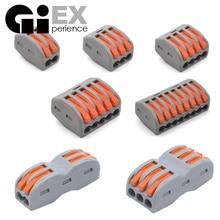 Mini conector de fio de fio de fiação universal, 30 e 50 peças conjunto conector terminal conector de cabo de energia fácil rápido rápido