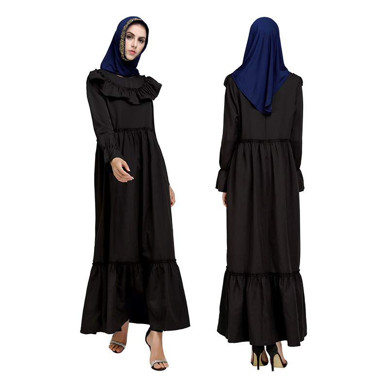 Spring-Summer New Style Muslim Middle East Arab Long-Sleeve Dress Photo Shoot