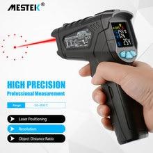 MESTEK  IR01 Digital infrared Thermometer laser Temperature Gun Colorful LCD Screen Humidity Pyrometer infrared thermometer