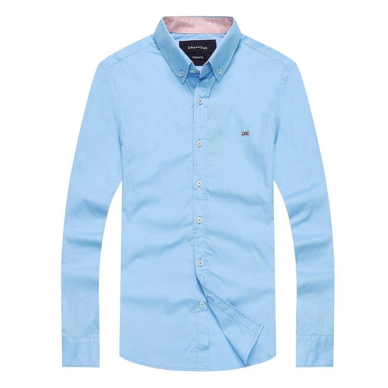 Najlepiej sprzedających 2021 nowy Park markowe koszulki Patchwork Eden koszula mężczyźni podstawowe masculina topy koszula mężczyzna przycisk koszulka hombre duże M-XXL