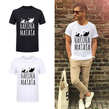 Showtly Lion King Hakuna Matata Tshirt man Plus Size Ulzzang Tumblr T-shirt Casu