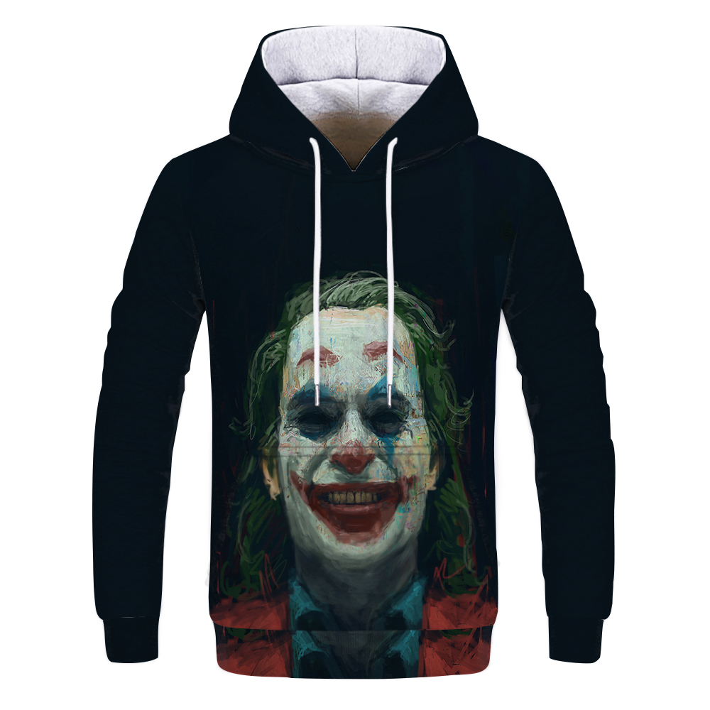 Hip Hop Graffiti Hoodies Mens Autumn Casual Pullover Sweats Hoodie Male Fashion Skateboards Sweatshirts Off White Joker Coat 3D