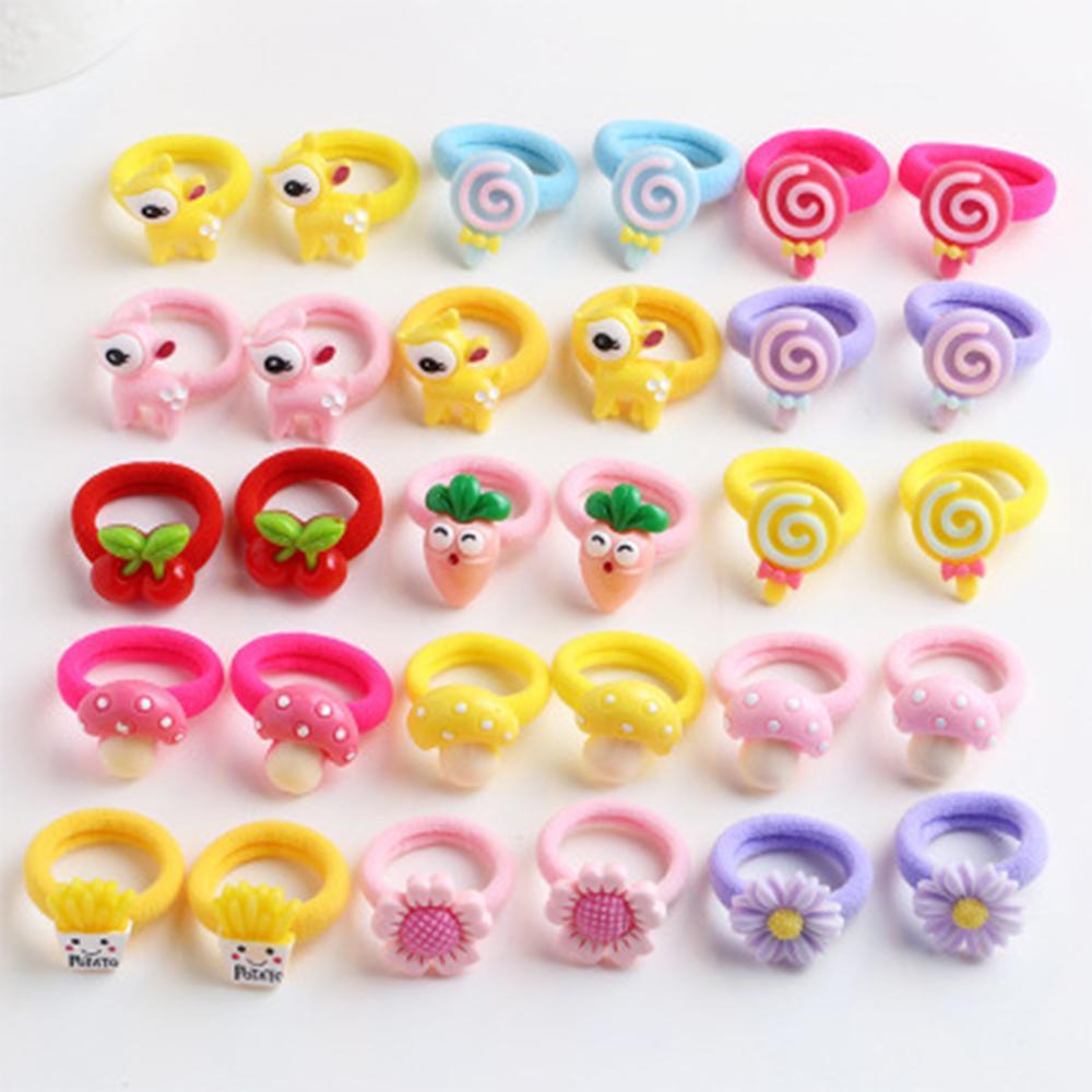 20 Pcs/set Colorful Carrot Cartoon Baby Hairband Mixed Handmade Nylon Elastic Baby Headbands For Girls Hair Accessories Newborn