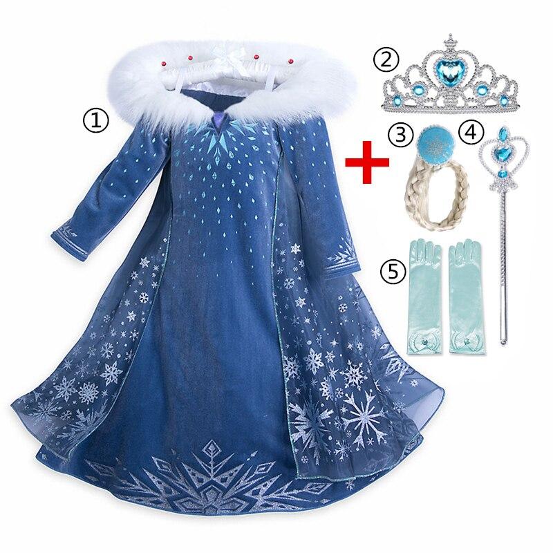 4 7 8 9 10 jahre Mädchen Kleid Kinder Rolle-Spielen Kostüm Prinzessin Mädchen Ballkleid Party Weihnachten Kleid cosplay Kleider