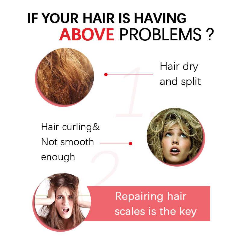 Queratina mágica de 120ml sin formalina, tratamiento de reparación, cabello dañado y alivia el cabello, champú purificador de 120ml + aceite de argán de 10ml