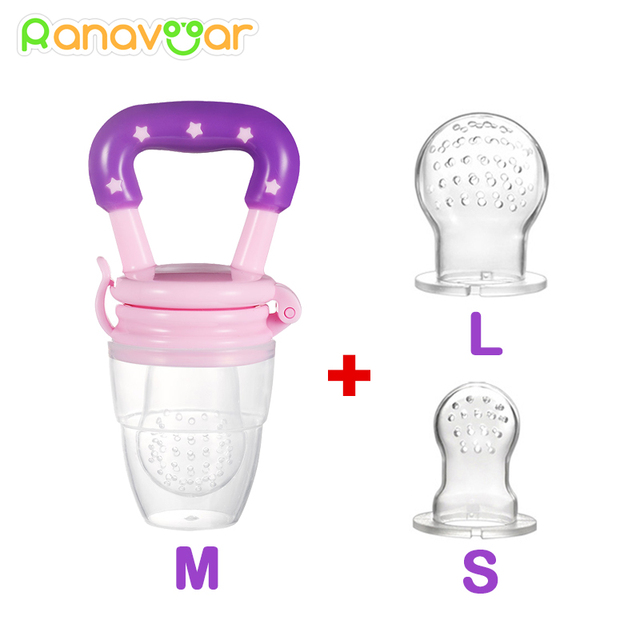 3 In 1 Baby Nipple Fresh Food Fruit Milk Feeding Bottles Nibbler Learn Feeding Drinking Water Straw Handle Teething Pacifier 1