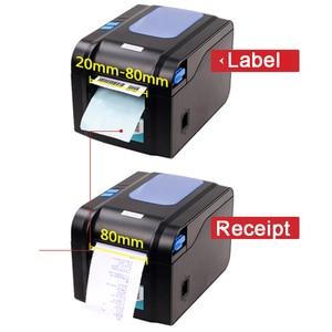 Image 2 - Xprinter Label Barcode Printer Thermal Receipt Label Printer Bar Code QR Code Sticker Machine 20mm 80mm Auto Stripping 370B