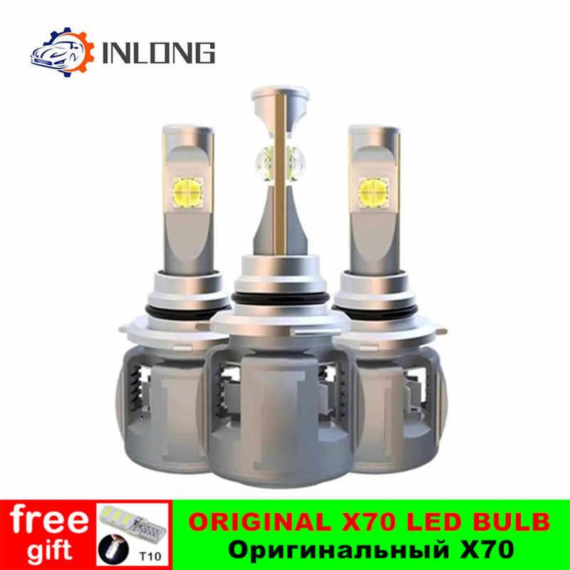 X70 רכב H4 H7 led H1 9005 hb3 9006 hb4 LED פנס הנורה H11 Led H8 D1S D2S D4S אוטומטי led מנורת 15600LM פנס ערפל אור 6000K