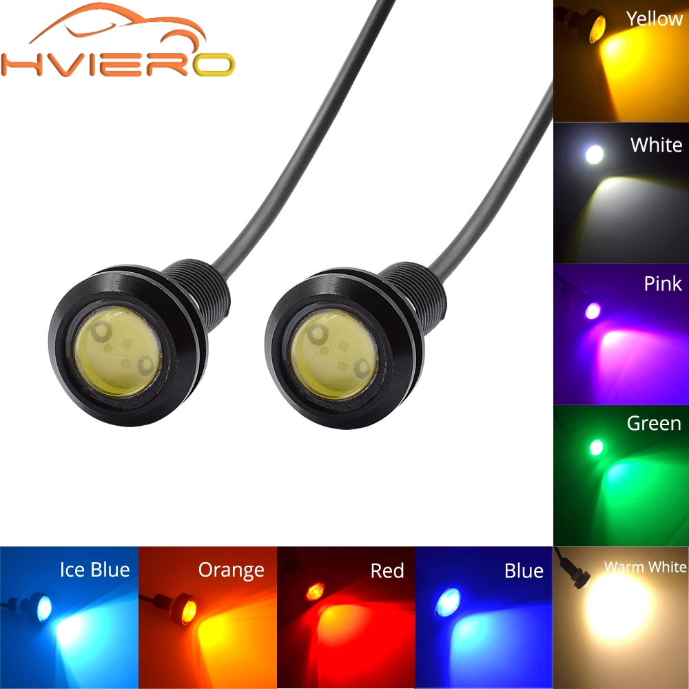 2x White Red Blue yellow 18mm 9w DC 12V Led Eagle Eye Light Daytime Running Drl Backup Car Motor Parking Signal Lamps Waterproof