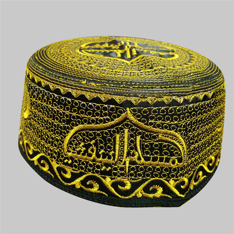 Lychee Muslim Prayer Hats India Kufi Turban Mens Islamic Muslim Cap Arabic Saudi Topi Islam Prayer Hijab Caps Satin Bonnet