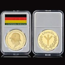 Deutsche Kompanie Aufklarungsabteilung 4 Panzerdiv, Metal, soldado militar, moneda de oro con pantalla de cápsula, 1939 Euro