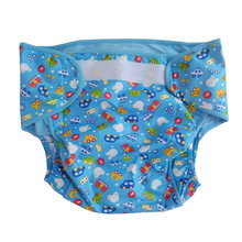 ABDL cloth diaper with paddng inside /Waterproof adult printed cars cloth pant with padding /washable adult trainning pant(China)