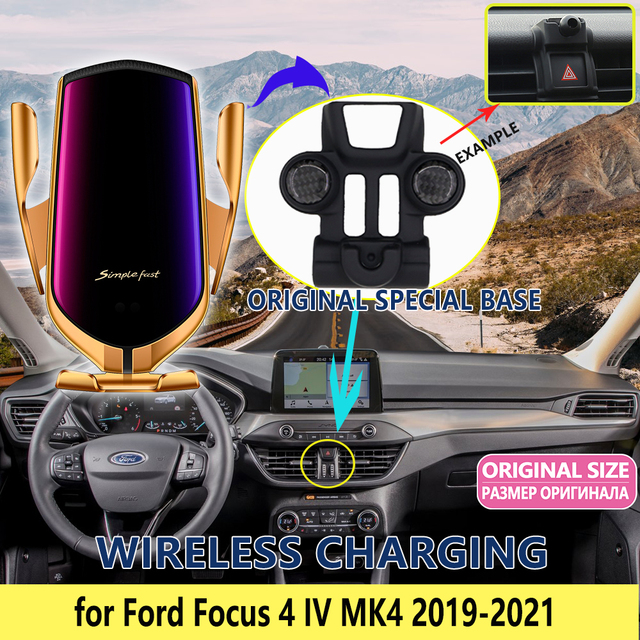 Car Mobile Phone Holder for Ford Focus 4 IV MK4 2019 2020 2021 GPS Stand Bracket Rotatable Support Accessories for iphone Huawei