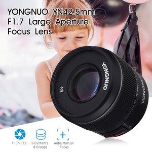 Image 5 - YONGNUO YN 42,5mm F 1,7 M Große Blende AF/MF Objektiv Standard Prime Objektiv für M4/3 berg DSLR Kameras für GF8 GF9 Olympus E PL9