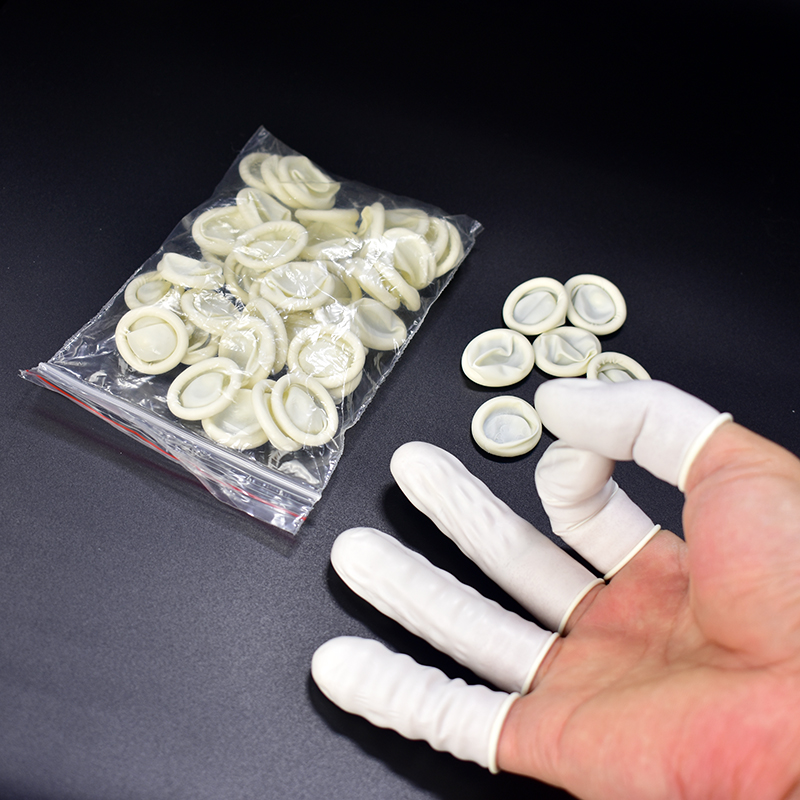 FGHGF 50pcs Disposable Anti Static Rubber Latex Finger Cots Eyebrow Extension Gloves Practical Off Eyelash Extension Tool