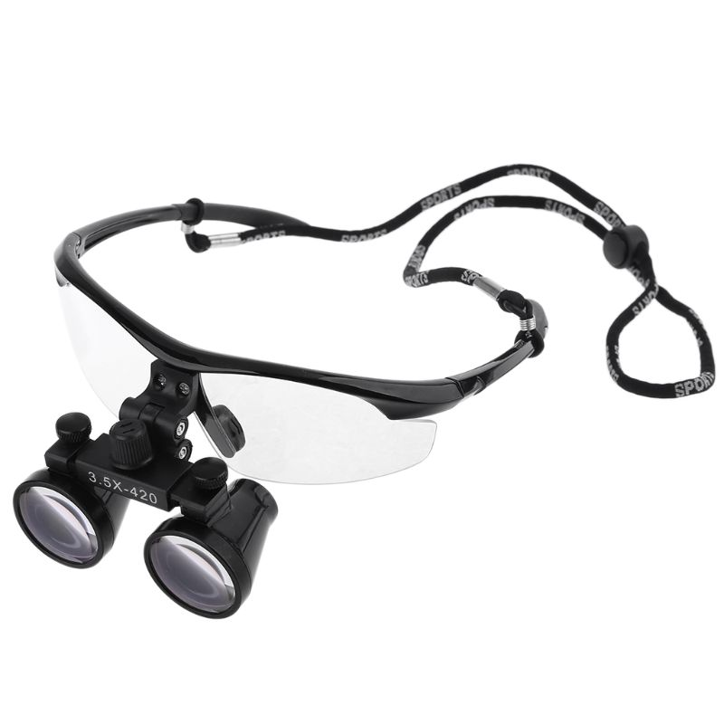 3.5X Head Wearing Dental Loupe Ultralight Binocular Magnifier Goggle Dentist Surgical Loupes