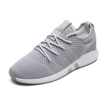 Высокое качество Мужская обувь свободного покроя воздухопроницаемой сеткой кроссовки для мужчин со шнурками туфли-Tenis Masculino Хомбре zapatillas размер