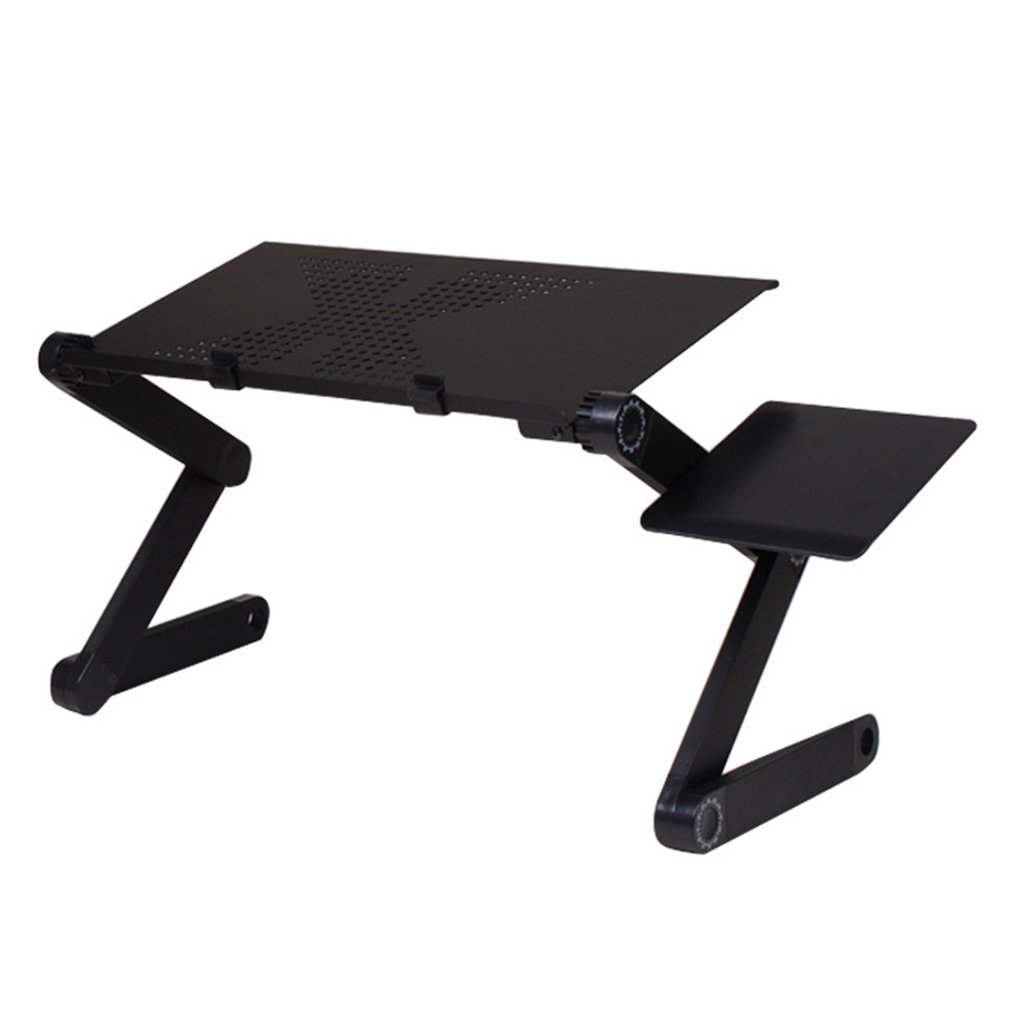 Laptop Desk Magnesium Alloy ABS With Big Fan Collapsible Dormitory Artifact Folding Table Lazy Office Bed Desk