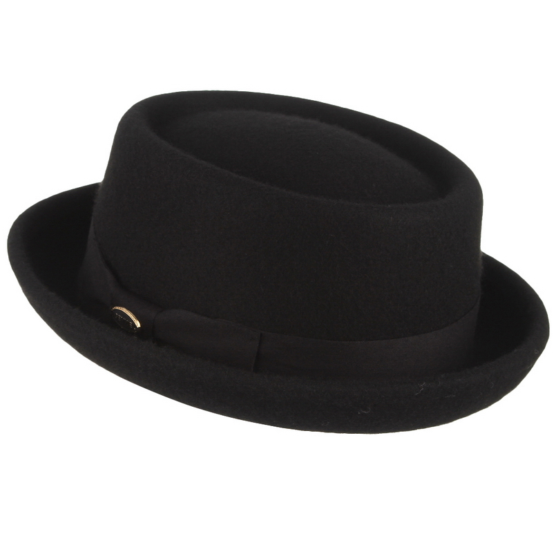Image 3 - GEMVIE Men Women 100% Wool Felt Crushable Porkpie Fedora Hat Vintage Curved Brim Pork Pie Wool Hat Autumn Winter-in Men's Fedoras from Apparel Accessories