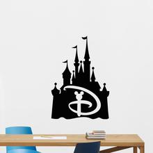 Disney Castle Wall stickers Mickey Mouse Emblem Fairy Quote Kids Gift  Vinyl Sticker bedroom accessories DecorPoster