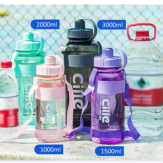 1L 2L 3L Large Capacity Sports Water Bottles Portable Plastic Outdoor Camping Picnic Bicycle Cycling Climbing Drinking Bottles 6