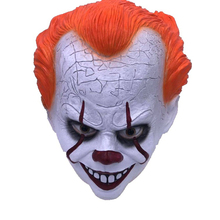 Horror Clown Mask Scary Killer Clown Mask Halloween Terror Joker Movie Payday Full Face Latex Mask Props horror clown mask scary killer clown mask halloween terror joker movie full face latex mask