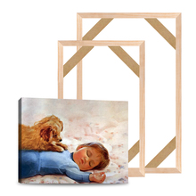 Wooden DIY Stretcher Bar Diy Canvas Frame Kit Gallery Wall Art  Oil Painting DIY Stretcher Strip For Living Room Office Wall