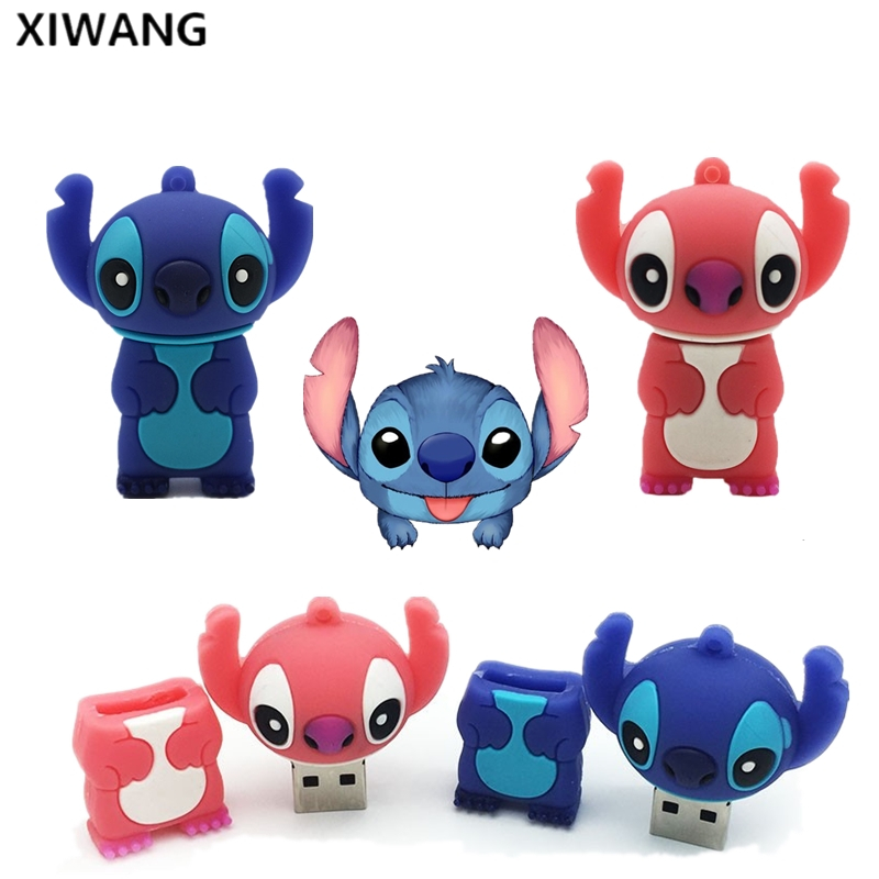 USB Flash Drive Cartoon Stitch Pen Drive 2.0 32GB 4GB 8GB 16GB  64GB 128GB Flash Memory Stick Pendrive Lilo & Stitch Best Gift