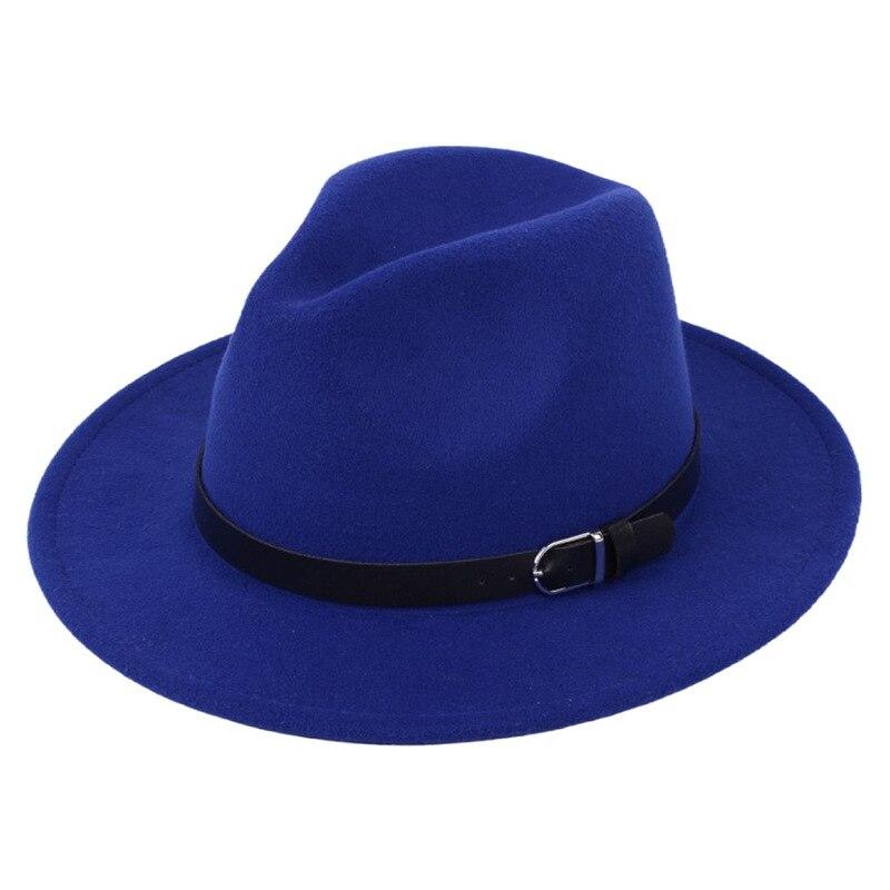 Classic British Fedora Hat Men Women Imitation Woolen Winter Felt Hats Fashion Jazz Hat Chapeau Wholesale 10