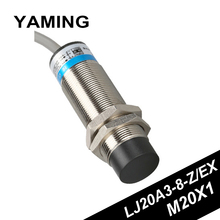 Sensor 24V36V DC Two-wire Normally Open M20 Inductance Type Metal Near Switch LJ20A3-8-Z/EX Copper 50/60HZ