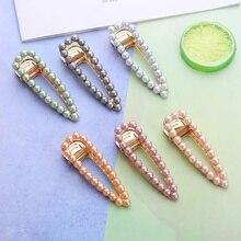 1pc Woman Elegant Imitation Pearl Hairpins Fashion Hair Clips Girls Accessories Headwear Women Grips Ornament