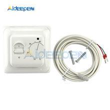 Termostato de calefacción de suelo mecánico Universal, controlador electrónico Dual de temperatura caliente para habitación, PC retardante, CA de 220V, nuevo