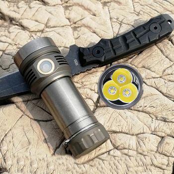 AMUTORCH X9 SST40 XP-L HD 3600lm High Lumen Flashlight USB Rechargeable 26650 Portable 4 Modes USB Work Lamp Emergency Lantern