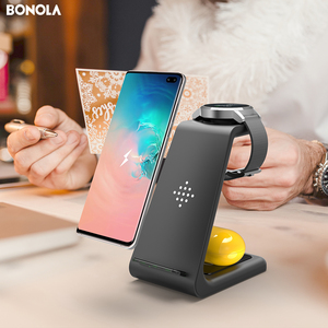 Image 5 - Bonola 3 in1 Wireless Charging Station For Samsung Galaxy Watch/Buds/S10/S9 Fast Qi Wireless Charger For Samsung Note10/Note9/S8