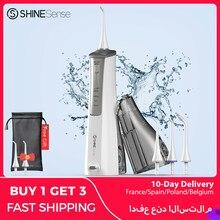 ShineSense SIO200 irrigateur buccal portatif dentaire de Jet d'eau d'usb de, hydropulseur dentaire, Rechargeable blanchiment dentaire irrigateur IPX7 pour nettoyer des dents