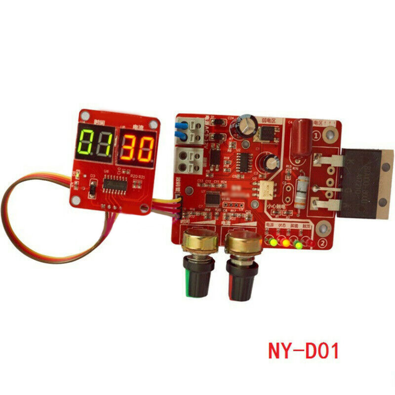 Stable Spot Time Point Welding NY-D01 100A Digital Display And Current Panel Controller Control Panel Board Module Kit