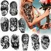 Cool Tattoo Stickers Temporary Tattoos Body Art Waist Arm Religion Fake Tattoo Sticker Waterproof Temporary Tattoo Big Size