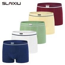 5 Piece Lot Soft Organic Cotton Kids Underwear Pure Color Baby Boys Boxer For 2 16y