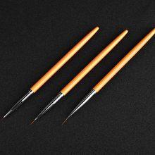3 Pcs Set Nail Art Lines Painting Pen Brush Kit UV Gel Polish Tips 3D Design Manicure Drawing Tool LDO99 cheap Y W F CN(Origin) Nail art Dotting Tools Plastic