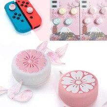 Nette Mädchen Blume Sakura Thumb Stick Grip Cap Joystick Abdeckung Für Nintend Schalter Lite NS JoyCon Controller Gamepad Thumbstick Fall