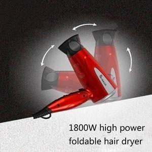 Image 5 - מקצועי מתקפל שיער לפוצץ מייבש 1800W חום מפוח מייבש חם קר רוח סלון האיחוד האירופי Plug