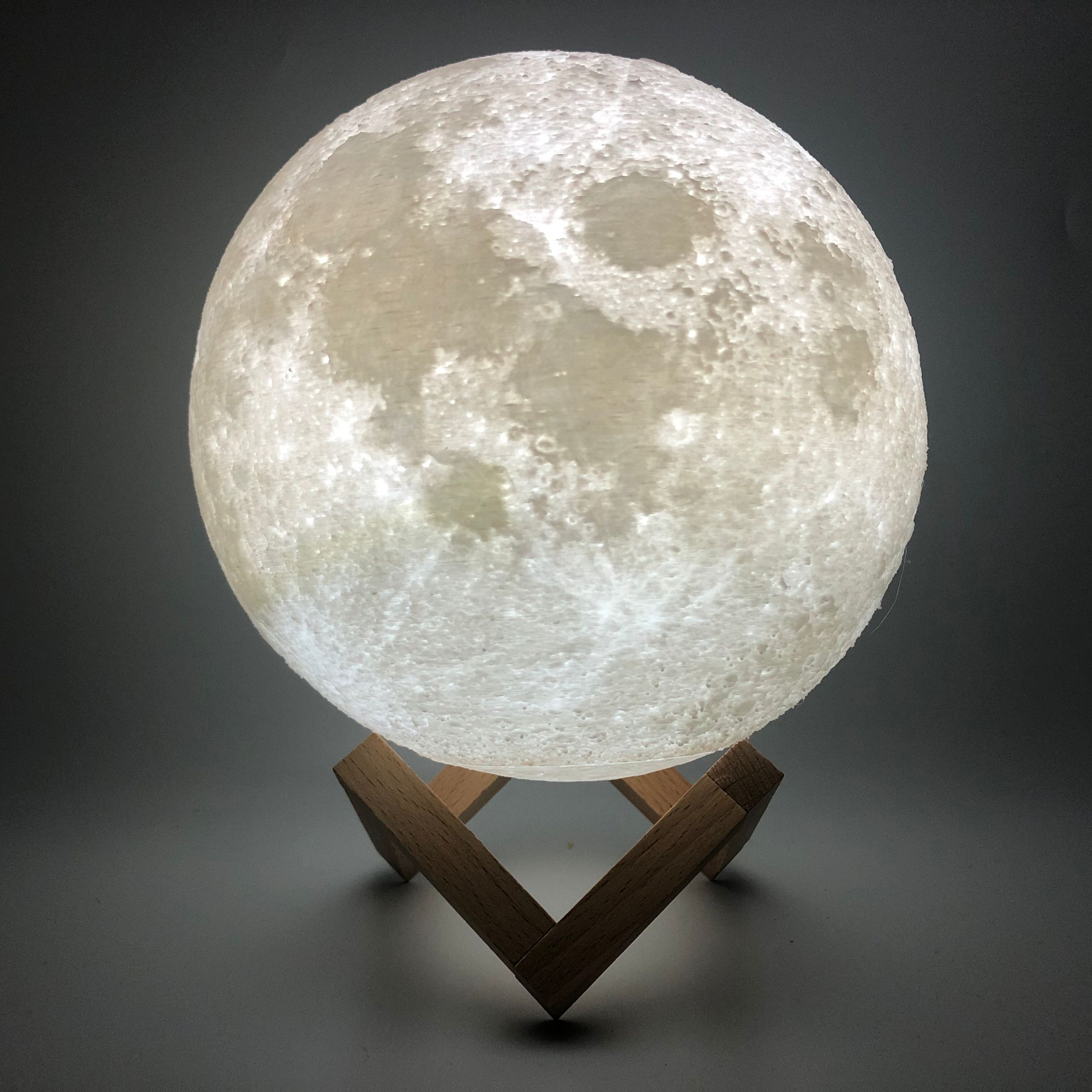 3D Print Moon Lamp Colorful Change Touch Usb Led Night Light Home Decor Creative Gift Christmas Gifts
