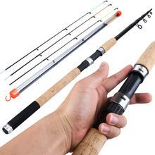Sougayilang mangeoire canne à pêche télescopique filature/6 Sections en Fiber de carbone canne de voyage 3.0 3.6m Pesca et pointe de rechange gratuite
