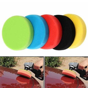 Image 1 - 5 Pcs 3 7 นิ้วแผ่นขัดขัดแบนขัดฟองน้ำ Pads Kit สำหรับรถยนต์ออโต้ Polisher แก้วขัด