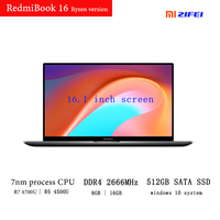 RedmiBook 16 new 2020 Xiaomi Laptop AMD Ryzen 7nm process cpu 16 Inch FHD Screen DDR4 2666MHz RAM 512GB SATA SSD mi Notebook
